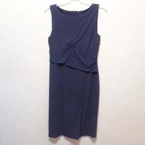 Navy and White Ann Taylor Tank Dress size 14